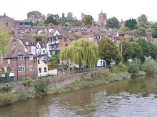 Bridgnorth, view from the River Severn Bridge, Shropshire © Gordon Griffiths
